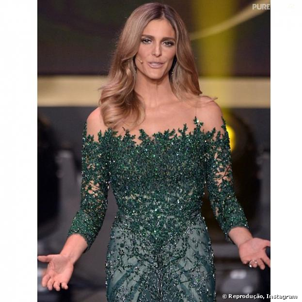Com um vestido feita a mão, Fernanda Lima rouba a cena na premiação Bola de Ouro, que aconteceu nesta segunda-feira, 13 de janeiro de 2014