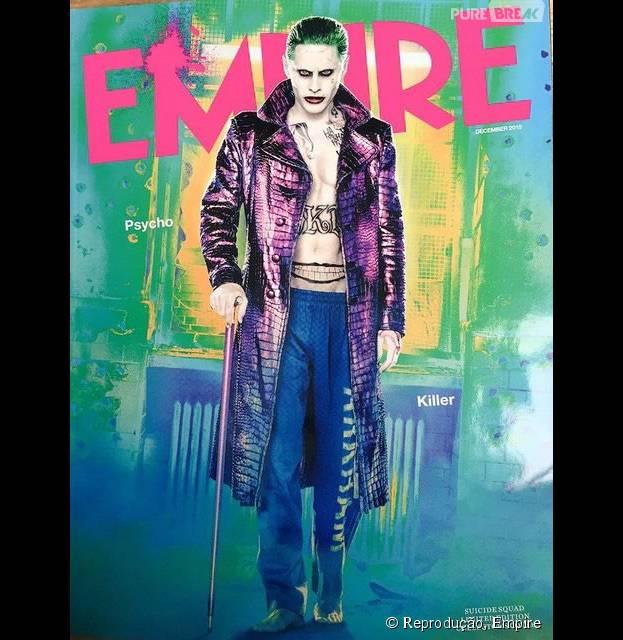 """Jared Leto já estampou a capa da revista Empire, na pele do Coringa, de """"Esquadrão Suicida"""""""