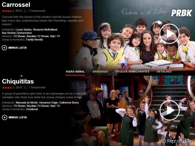 """Novelas na Netflix: """"Carrossel"""" e """"Chiquititas"""""""