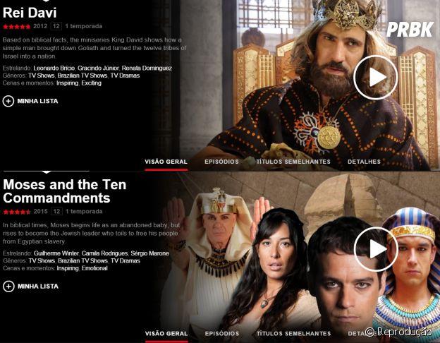 """Novelas na Netflix: """"Os Dez Mandamentos"""""""