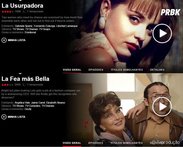 "Novelas na Netflix: ""A Usurpadora"" e ""A Feia Mais Bela"""