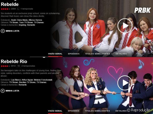 """Novelas na Netflix: """"Rebelde"""" e """"Rebelde Rio"""""""