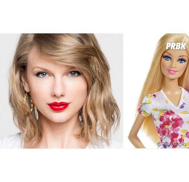 Taylor Swift é versão humana da boneca Barbie!