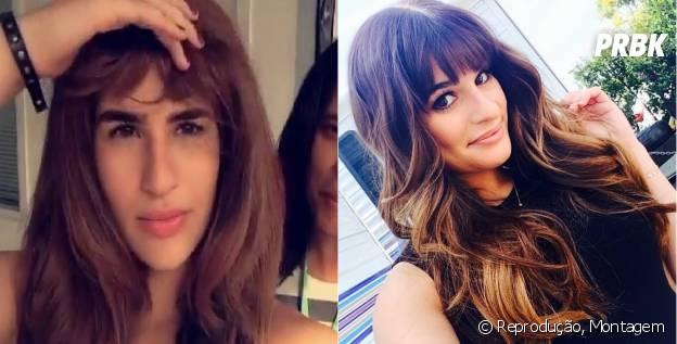 Lea Michelle e Lívian Aragão são parecidas