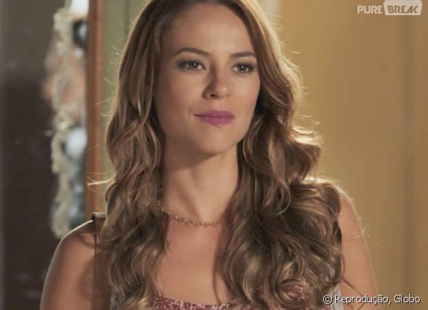 """Em """"Além do Tempo"""": Melissa (Paolla Oliveira) tem ajuda de Pedro (Emílio Dantas) para separar Felipe (Rafael Cardoso) e Lívia (Alinne Moraes)!"""