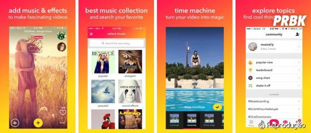 Para editar vídeos usando várias ferramentas e ainda participar de desafios, o app Musical.ly é ideal