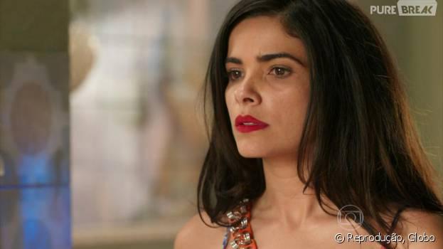 """Em """"A Regra do Jogo"""", Tóia (Vanessa Giácomo) ameaça matar Romero (Alexandre Nero) ao descobrir verdade sobre facção"""