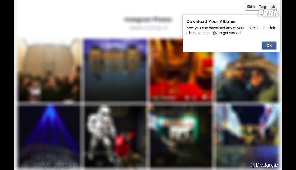 Chega de trabalho, pois o Facebook agora permite baixar álbuns inteiros de fotos