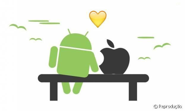 Apple e Android estão se conhecendo melhor e casamento pode acontecer em breve!
