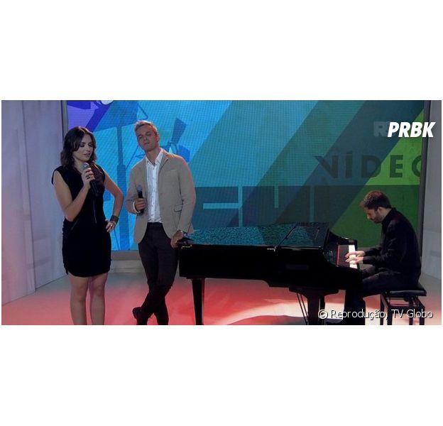 """Monica Iozzi se emociona no último dia de apresentação do """"Vídeo Show"""" com Otaviano Costa"""