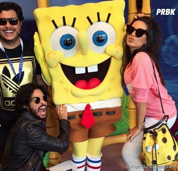 Anitta está curtindo seus dias de férias em Orlando com os amigos Marcus Majella e André Nicollau