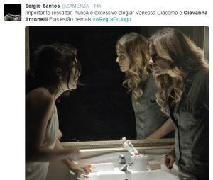"""De """"A Regra do Jogo"""", internautas elogiam atuação de Giovanna Antonelli (Atena) e Vanessa Giácomo (Tóia)"""