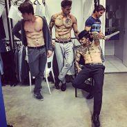 """Lucas Lucco, Nicolas Prattes e Felipe Titto, de """"Malhação"""", fazem dancinha sensual de """"Magic Mike"""""""