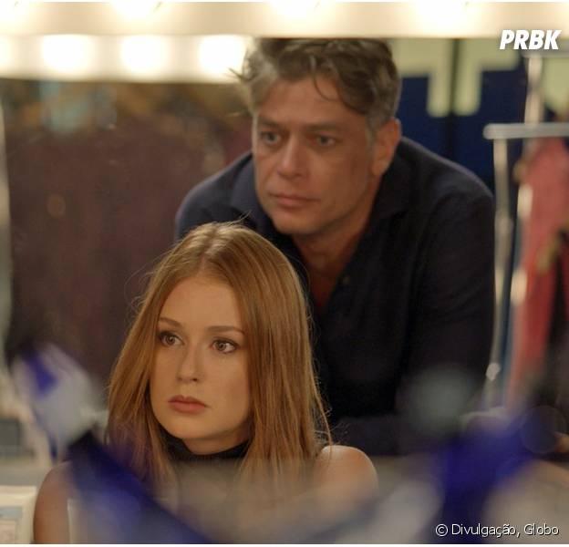 """Em """"Totalmente Demais"""": Eliza (Marina Ruy Barbosa) é atacada por padrasto e Arthur (Fábio Assunção) salva modelo de levar um tiro!"""