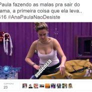 """No """"BBB16"""": Ana Paula ameaça desistir do reality e memes invadem os Trending Topics do Twitter!"""