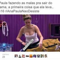 "No ""BBB16"": Ana Paula ameaça desistir do reality e memes invadem os Trending Topics do Twitter!"