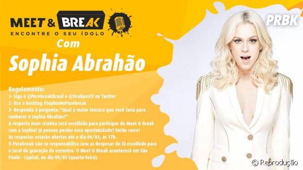 Sophia Abrahão no Meet & Break