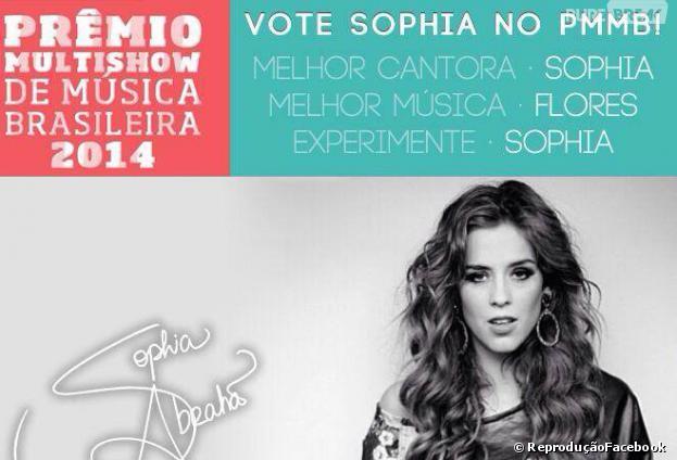"""Sophia Abrahão pede votos para o """"Prêmio Multishow 2014"""""""