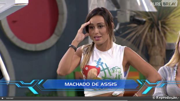 """Durante a prova do Líder do """"BBB14"""", Letícia não sabe quem escreveu """"Dom Casmurro"""" e gera revolta no Twitter"""