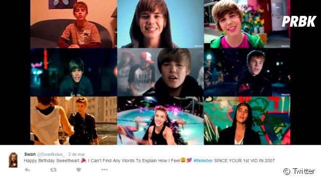 Você acompanha o Justin Bieber desde o início de sua carreira?