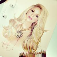 Shakira, Rihanna e Beyoncé, jovem é sucesso fazendo caricaturas no Instagram