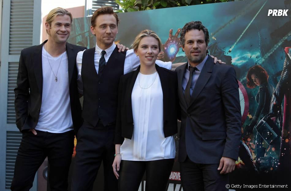 """Os Vingadores - A Era de Ultron"" traz de volta Chris Hemsworth, Scarlett Johansson e Mark Ruffalo, já que Tom Hiddleston ainda não foi confirmado"