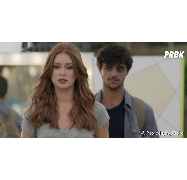 """Em """"Totalmente Demais"""", Eliza (Marin Ruy Barbosa) pede um tempo a Jonatas (Felipe Simas) apór flagra de Arthur (Fábio Assunção)"""