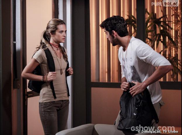"""Em """"Além do Horizonte"""", Lili (Juliana Paiva) e Marlon (Rodrigo Simas) vão ter que fugir às pressas!"""
