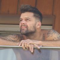 Ricky Martin aparece de cueca em sacada de hotel no Rio de Janeiro!