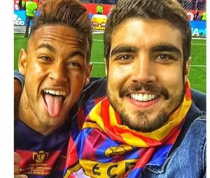 Caio Castro encontra Neymar Jr, após partida em Madri!