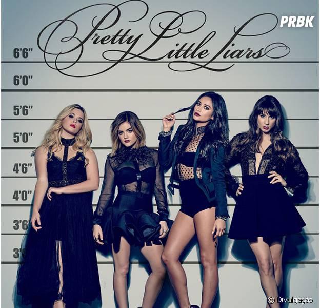 """De """"Pretty Little Liars"""": as quatro mentirosas estão de matar em novo pôster!"""