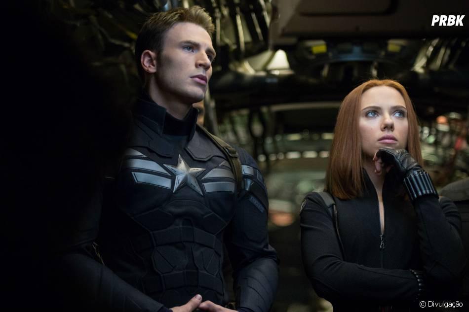 """Como Viúva Negra, Scarlett Johansson atua ao lado de Chris Evans em """"Capitão América 2: O Soldado Invernal"""""""