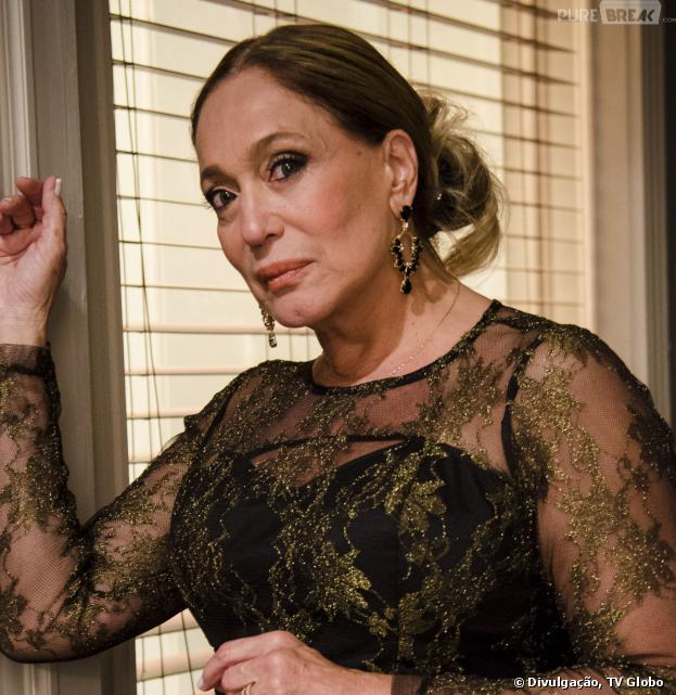 """Pilar (Susana Vieira) ficará surpresa com a atenção dada por Jacques (Julio Rocha) em """"Amor à Vida""""!"""