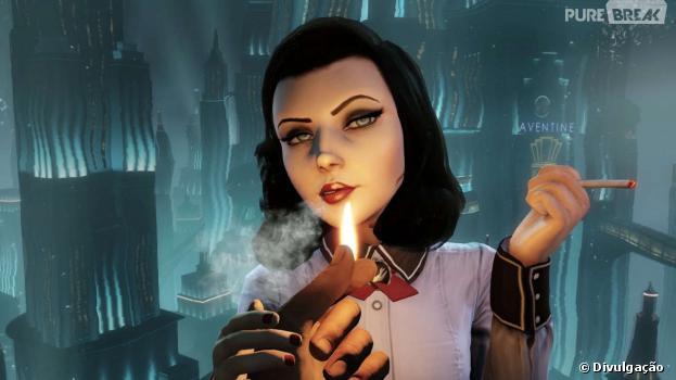 A sedutora Elizabeth, personagem principal doEpisódio 2 de Bioshock Infinite: Burial Sea.