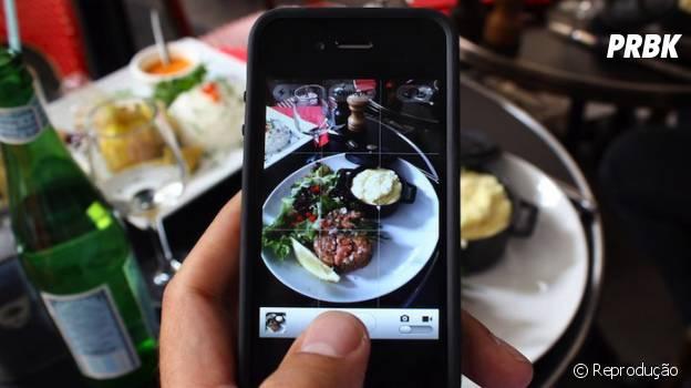 Tirar foto do prato virou parte das refeições dos usuários do Instagram
