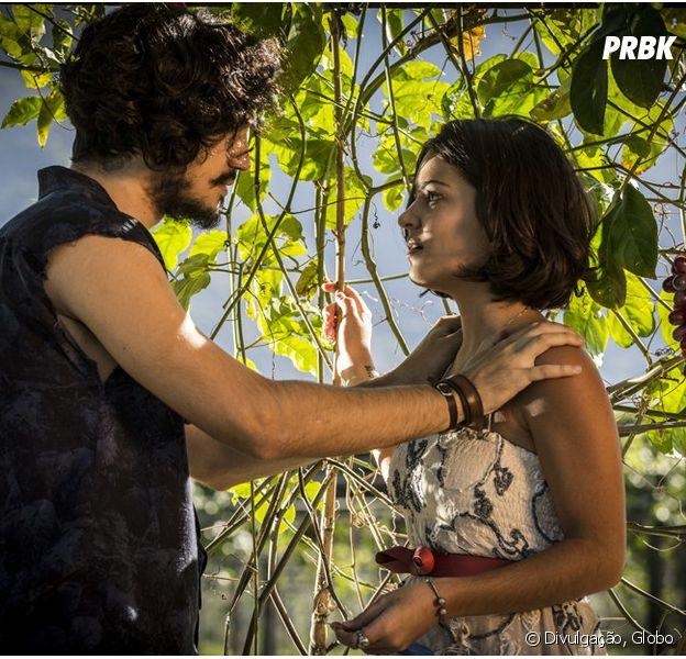 """Em """"Velho Chico"""": Miguel (Gabriel Leone) e Olívia (Giullia Buscacio) se unem como irmãos após descoberta"""