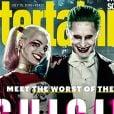 """Filme """"Esquadrão Suicida"""": Coringa (Jared Leto) e Arlequina (Margot Robbie) aparecerem sorridentes em capa de revista"""
