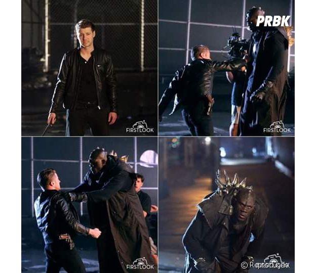 """Em """"Gotham"""": na 3ª temporada, Gordon e monstro de Hugo Strange lutam em novas fotos"""