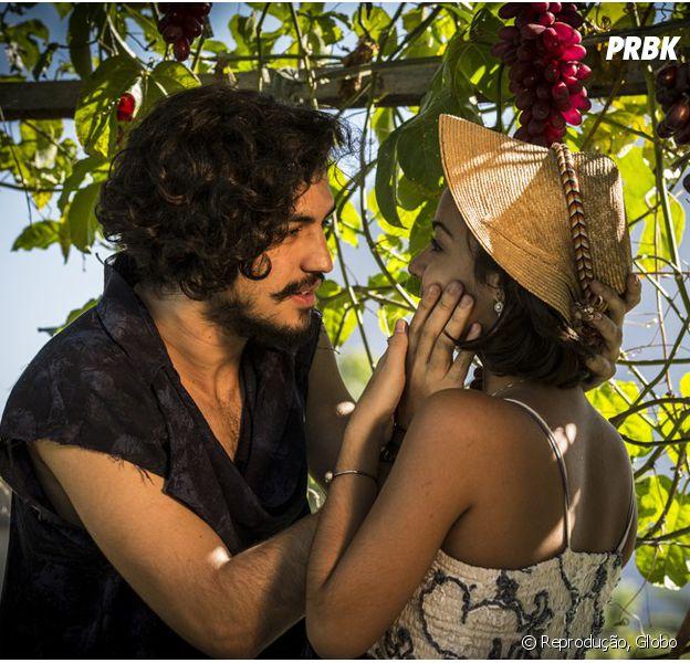 """Em """"Velho Chico"""", Miguel (Gabriel Leone) se declara para Olívia (Giullia Buscacio)!"""