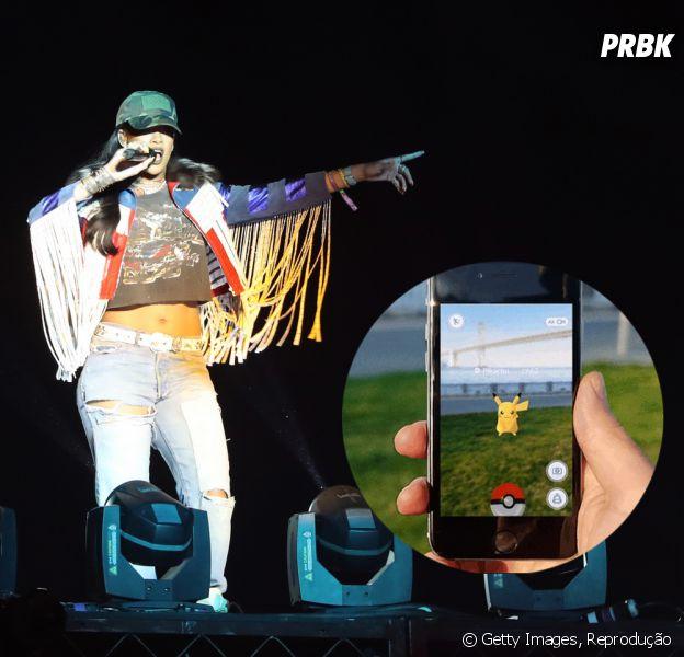 "Já imaginou perder a performance de Rihanna para jogar ""Pokémon Go""?!"