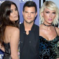 """Lea Michele zoa Taylor Lautner sobre namoro com Taylor Swift: """"Ela escreveu uma música sobre você?"""""""