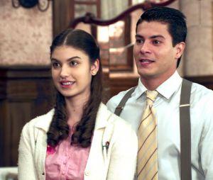 """Novela """"Êta Mundo Bom!"""": Gerusa (Giovanna Grigio) e Osório (Arthur Aguiar) estavam preparando casamento"""