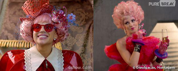 """Em """"Meu Pedacinho de Chão"""", Juliana (Bruna Linzmeyer) tem um estilo igualzinho ao da Effie (Elizabeth Banks) de """"Jogos Vorazes"""""""