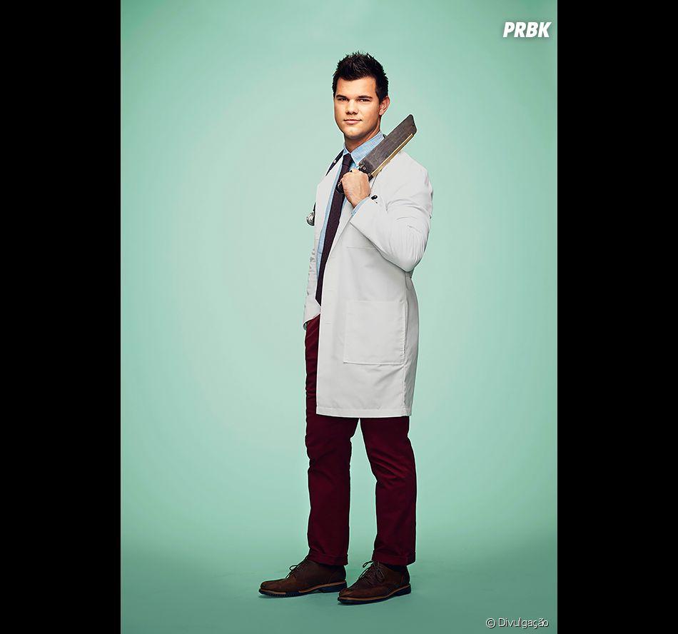 """Em """"Scream Queens"""", Taylor Lautner será um médico suspeito na 2ª temporada da série"""