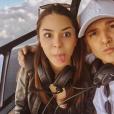 Amor nas alturas! MC Gui e Luiza Cioni fazem selfie direto de helicóptero