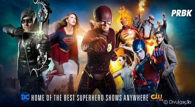 """The Flash"", ""Arrow"" e ""Supergirl"" são destaques no pôster da CW na Comic-Con 2016"