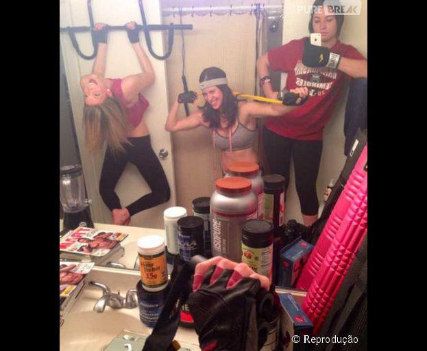 Selfies na academia já viraram piada