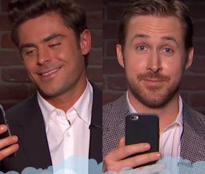 NA TV americana, Zac Efron, Ryan Gosling e mais famosos leem tweets maldosos