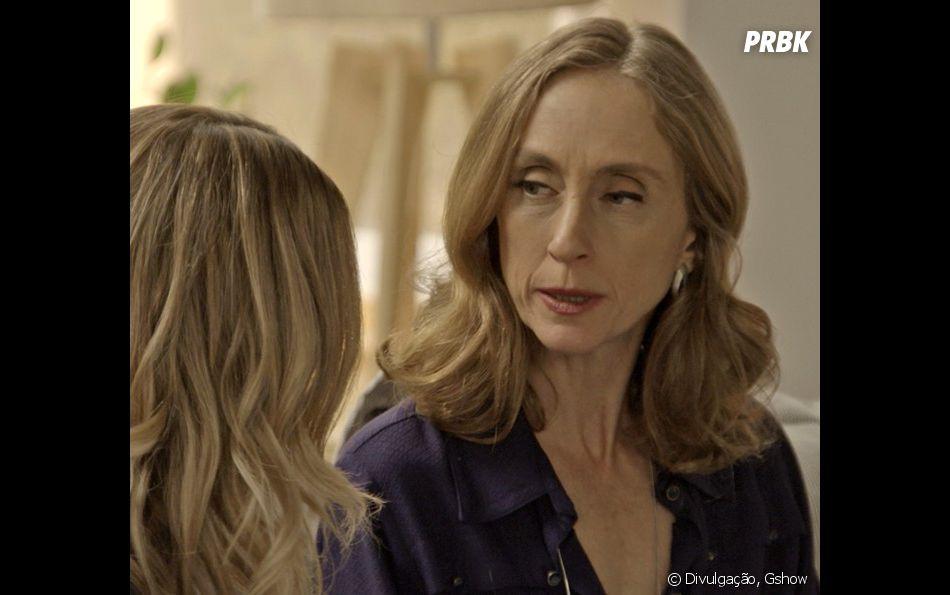 Vitória (Betty Goffman) recorre a Jéssica  (Karen Junqueira)  para separar seu filho de Shirlei (Sabrina Petraglia)