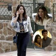 """Novela """"Haja Coração"""": Carmela liga para Jéssica após ver Shirlei e Felipe juntos!"""